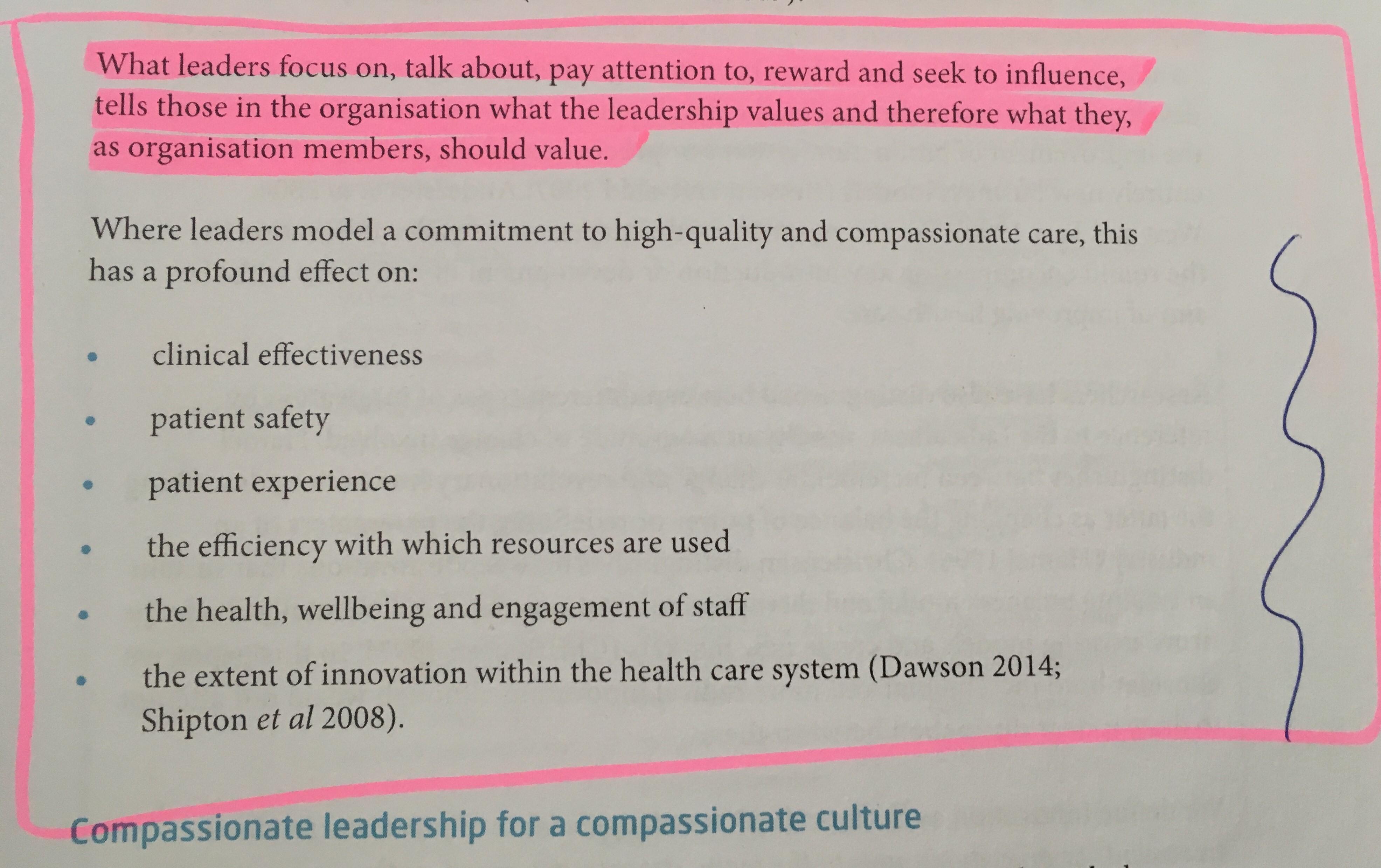 Compassionate medical leadership
